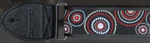 Souldier Guitar Strap: Crop Circles - Black