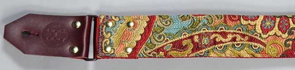 Hang Over Guitar Strap: Psychedelic Red