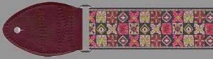 Souldier Guitar Strap: Woodstock - Pink