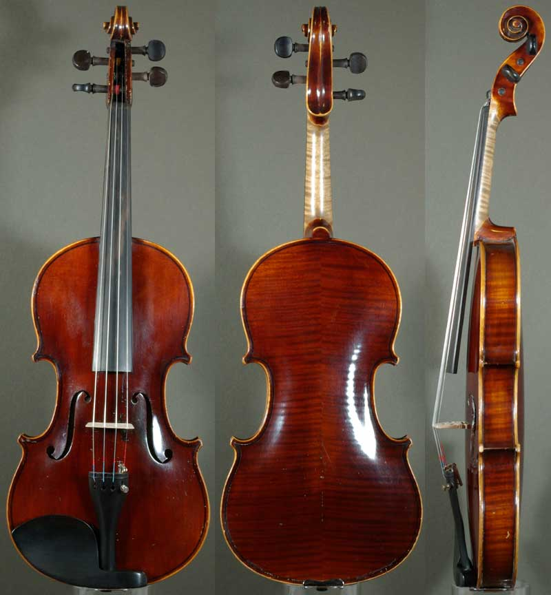 Alberto Bertini Label Violin - 1912