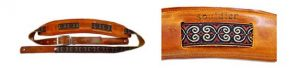 Souldier Saddle Guitar Strap: Papyrus - Nutmeg