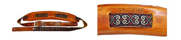 Souldier Saddle Guitar Strap: Papyrus - Nutmeg
