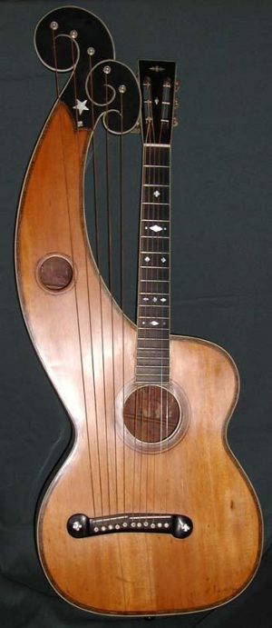 Dyer Bros. Style 7 Harp Guitar - c.1920